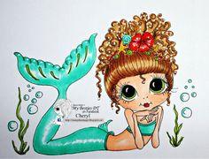 Faça o Download Digital Digi selos Olho grande Big Head Dolls NOVO Bestie img661 Besties por Sherri Baldy