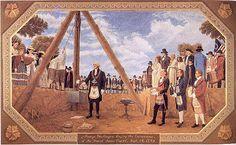 On September 18, 1793, George Washington laid the Foundation Stone for the U.S. Capitol. #washington