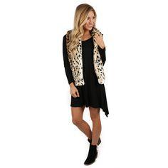 London Bound Leopard Faux Fur Vest | Impressions Online Women's Clothing Boutique #shopimpressions