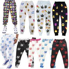 Women Men 3D EMOJI Print Fashion Sweatpants JOGGER Pants Thicken Emoticon Slacks #Unbranded #CasualPants