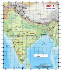 Latitude and longitude map of india with two degrees of difference india physical map gumiabroncs Gallery