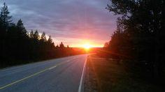 Eilen illalla matkalla Kuusamoon. Nyt Saariselällä. #Lappi2014