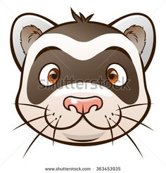 Stock Images similar to ID 366576212 - cute cartoon ferrets