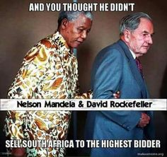 If you knew who Mandela was before he went into prison. Do you think he would be hand in arm with this man? (The mandela effect - clone on deck) Truth Hurts, It Hurts, David Rockefeller, Mandela Effect, Nelson Mandela, History Facts, Study History, Conspiracy Theories, New World Order