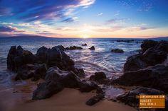 Sunset on the Rocks - Maui Hawaii
