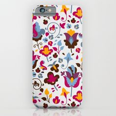 Magic flowers iPhone & iPod Case by Valendji | Society6