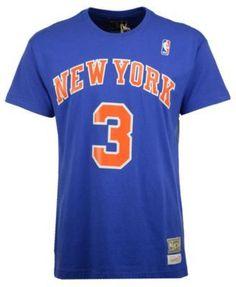 a7b3f622d Mitchell   Ness Men s John Starks New York Knicks Hardwood Classic Player  T-Shirt - Blue M