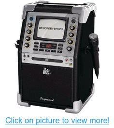 Singing Machine SMG-901 CD/CD+G Karaoke System with Rear Projection Speaker, Black