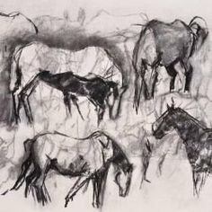 Drawing with charcoal tips and drawing techniques