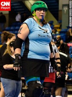 Regina Frazer weighed 260 pounds when she started participating in roller derby in September 2009.