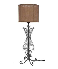 Metal & Fabric Dress Form Lamp