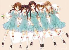 Naoto (Tulip), K-ON!, Tainaka Ritsu, Kotobuki Tsumugi, Nakano Azusa, Akiyama Mio