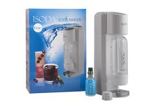 iSoda 31-01 Eco Plus Carbonated Soda Maker, White >>> This is an Amazon Affiliate link. You can find out more details at the link of the image.