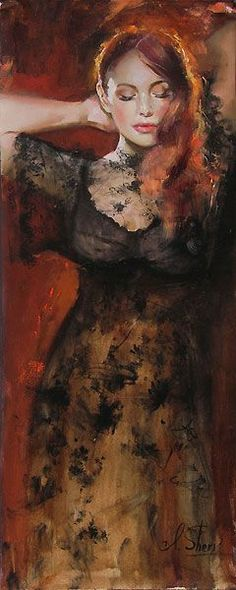 http://UpCycle.Club UpCycle Art & Life #HistoryProject presents Dreaming of You - Original Painting by Irene Sheri @upcycleclub