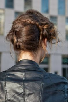 How to Chic: LEATHER JACKET AND BRAIDS