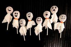 Ghost lollipops