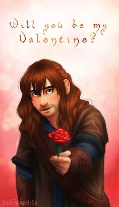 Of course! How can anyone say that you are ugly, Kili? I keep telling him any hobbit lady would fall any day for that look... and he hides behind his hair and mumbles thanks. :(
