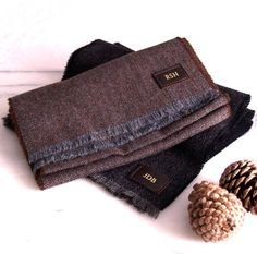Personalised Lambswool Scarf from notonthehighstreet.com