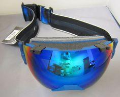 Smith I/OX Goggles Translucent Cyan X-Ray Green Sol-X Mirror Ski Snowboard Men's