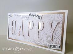 Karte zum 40. Geburtstag in Champagner – Stempelfantasie • Brigitte Keiling • Stampin' Up! • Landsberg am Lech • Stempeln