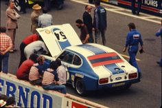 1973 Le Mans. #54 Ford Capri RS driven by Gerry Birrell & Hans Heyer. DNF failed distributor after 4 laps.