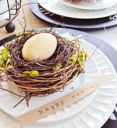 Tea Stained Eggs...perfect for a wonderful place setting for Easter!