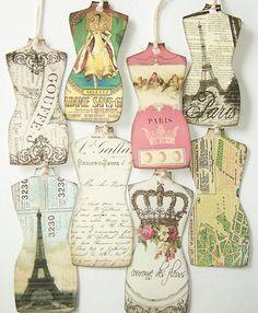 love these parisian tags Beautiful Paris, I Love Paris, Tour Eiffel, French Lace, French Vintage, Vintage Paris Bedroom, Paris In Spring, Dress Card, Old Paris
