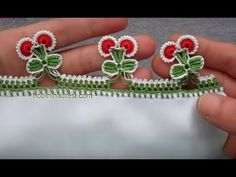 Making Cherry Lace - Making Cherry Lace Crochet Doilies, Crochet Flowers, Crochet Lace, Knitted Poncho, Knitted Shawls, Creative Embroidery, Hand Embroidery, Saree Kuchu Designs, Crochet Flower Tutorial
