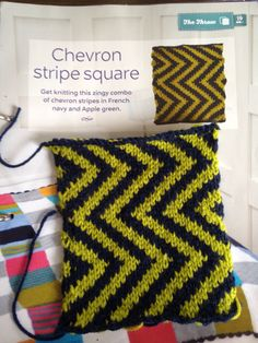 Issue 18 - Chevron stripe square
