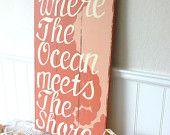 Meet Me Bye The Sea Home is Where The Ocean Meets The Shore Nautical Beach Sign