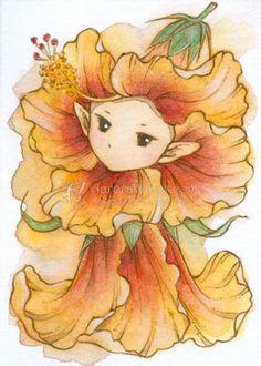 Hibiscus Sprite by aruarian-dancer on deviantART
