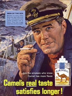 Men of the Sea... and Camel Cigarettes