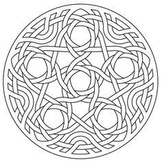 celtic knotwork lute rosette penta by Peter Mulkers