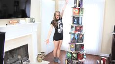 LEANING TOWER OF BOOK PISA | Booktube-A-Thon DAY 2 | by Polandbananasbooks.... I wish I had as many books as her I love her videos!!