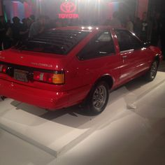 Here are Openbay's Favs from the 2016 New York Auto Show Floor & Beyond - here's the 1986 Toyota Corolla at the celebration Auto Service, Toyota Corolla, Vintage Cars, Celebration, New York, Flooring, New York City, Wood Flooring, Nyc