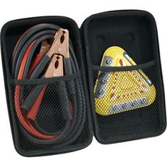 6 LED Emergency Flasher And Jumper Cable Set