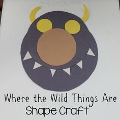 Where the Wild Things Are shape monster craft for kids