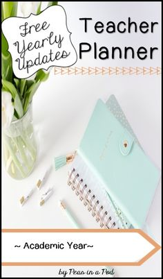 Here& your 2018 / 2019 monthly planner that spans the academic school year. It comes with free updates yearly. Choose from 3 beautiful cover options. You can print it back to back, and it is designed to be bound in book form or added to your teache Kindergarten Activities, Book Activities, Teaching Resources, Preschool, Teaching 5th Grade, 3rd Grade Classroom, Teacher Binder, Teacher Planner, Fourth Grade