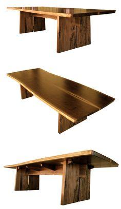 we finished it. american black walnut slab table, 11 x 4 feet #slabfurniture #conferencetable #walnut