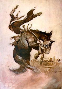 Cavalo indomável.