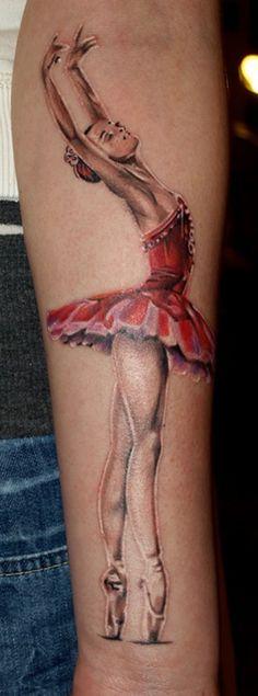 Bailarina Tattoo Isso é que é amor à Arte!