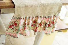 Use vintage linen tablecloths to add to runner. (ones with stains so cutting them up won't be so awful)