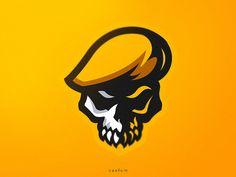 Skull designed by Caelum ⚡. Dp Logo, Cool Symbols, Crane, Team Logo Design, Fire Image, Sports Team Logos, Skull Logo, Neon Wallpaper, Game Logo
