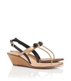 d782d054081 Tory Burch Wedge Thong Sandal Cute Shoes