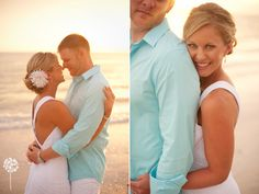 Sam + Brad :: Beach Wedding Photography :: Bride and Groom
