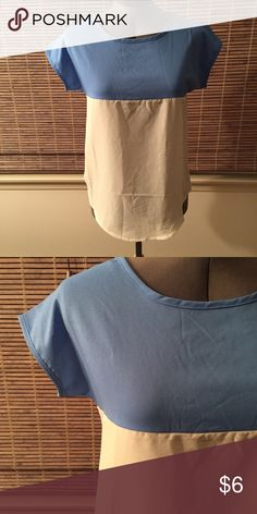 Sheer multi-colored shirt Two colored sheer tshirt! Still has original creases, never worn. Tops