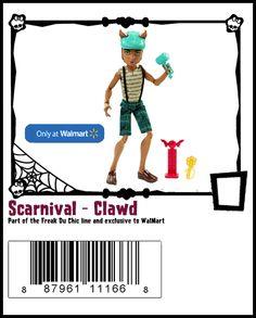 Scarnival-Monster High Doll Checklist