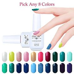 Beau Gel Choose Any 8 Colors Gel Nail Polish Soak Off UV LED Colour Varnish 15ml Nail Art Mainicure Pedicure Gift Set >>> You can get more details by clicking on the image.