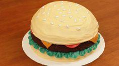 Hamburger cake! icanhascheezburger? :D