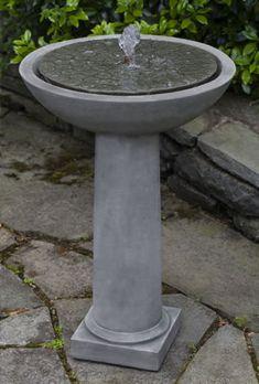 Cirrus Birdbath cast stone Fountain made by Campania International